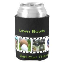 Lawn Bowls Photo Strip Stubby Holder