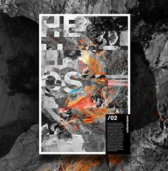 Abstract and textured typographic poster #painting #typography #texture #design #posterdesign