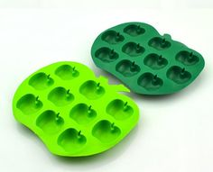 10-Apple Ice Tray Ice Mold Flexible Silicone by Creativemouldshop