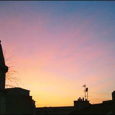 #Coucher de soleil #Paris #photography