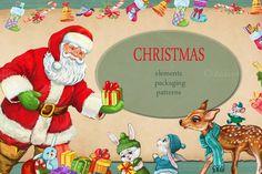 Christmas set/ illustration  by MitrushovaArt on @creativemarket
