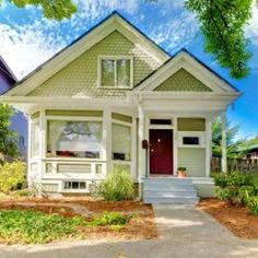 House Paint Ideas For Exterior Bright Green Light Painted