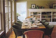 Ina Garten. Dining rm , house in the Hamptons frm MSL