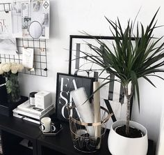 Office decor Office Decor, Home Office, Black And White, Instagram Posts, Home Offices, Black White, Blanco Y Negro, Office Home, Office Interior Design