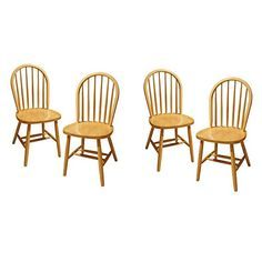 Winsome Wood Windsor Chair, Natural, Set Of 4