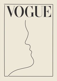 Vogue Poster Vogue Print Wall Art Gift For her Fashion Wall Art Vintage Poster Mode Collage, Aesthetic Collage, Aesthetic Drawing, Aesthetic Painting, Poster Retro, Posters Vintage, Poster Wall, Poster Prints, Wall Art Posters