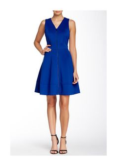Vince Camuto Front Zipper Fit & Flare Scuba Dress - on #sale 57% off @ #NordstromRack  #VinceCamuto