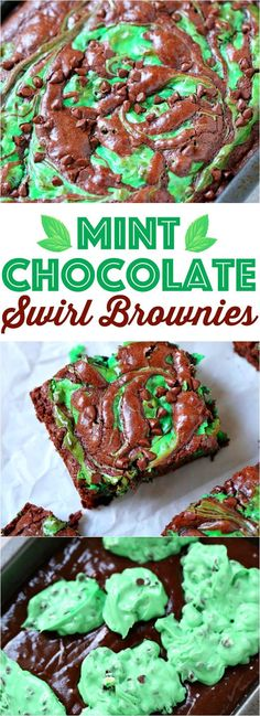 awesome Mint Chocolate Chip Swirl Brownies recipe from The Country Cook - perfect for St...by http://dezdemooncooking4u.gdn