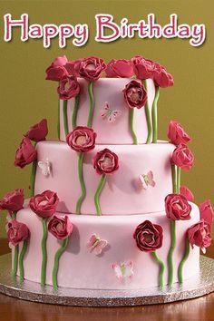 Bday sign Cake Roses, Rose Cake, Order Cakes Online, Cake Online, Beautiful Cakes, Amazing Cakes, Cake Lettering, Family Cake, Happy Birthday Cakes