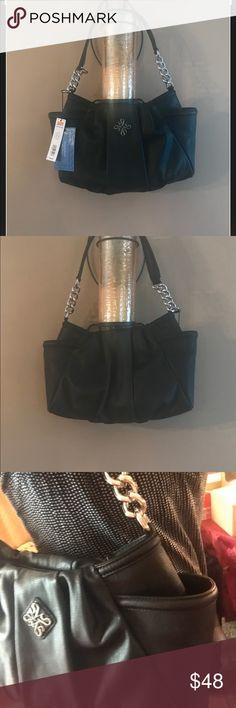 NWT Simply Vera Hobo beautiful leather  gorgeous NWT Simply Vera Hobo Black leather gorgeous  handbag Simply Vera Vera Wang Bags Shoulder Bags