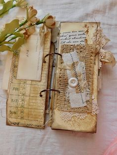 Pin by lisa roberts on craft ideas junk journal, journal, fabric journals. Cool Journals, Fabric Journals, Journal Paper, Junk Journal, Vintage Journals, Art Journals, Gratitude Journals, Fabric Books, Journal Notebook