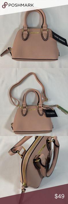 "STEVE MADDEN Blush Mini Crossbody Purse Handbag NWT STEVE MADDEN Blush Pink Mini Crossbody Purse Handbag Removable Crossbody strap and gold hangtag included 7"" X 6"" X 3"" Steve Madden Bags Crossbody Bags"