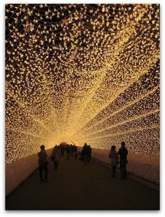 Japan's Nagano Hotel - the tunnel light show is 100% solar powered! Not to be missed if you are in #Tokyo.