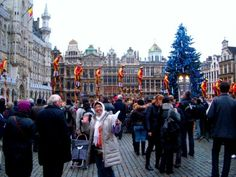 Town Hall Brussel - St Nicholas( Santa Claus ) B'day Parade — in Belgium.