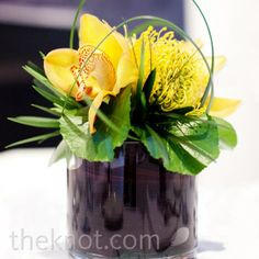 Yellow flower table arrangements - Google Search