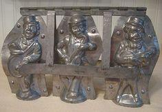 RARE German Antique Black Americana Minstrel Band Trio Hinged Chocolate Molds | eBay