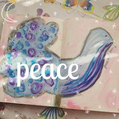A little #bird of #peace appeared on my #artjournal last night  Cute no?!  #acatlikecuriosity #art #artist #artstagram #artwork #artistsofinstagram #artistsoninstagram #artoftheday #artofinstagram