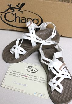 Custom white MyChaco Wedding chacos. // I would do it. I would do it in a heartbeat!!