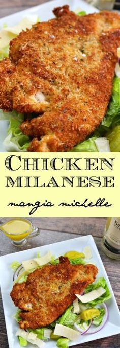 Chicken milanese is a classic and simple dish that makes an easy and delicious meal for everyone ~ http://www.mangiamichelle.com
