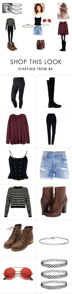 """""""Untitled #346"""" by geor6900 on Polyvore featuring NIKE, Stuart Weitzman, H&M, Plakinger, Chanel, R13, TIBI, Frye, ZeroUV and Hoorsenbuhs"""