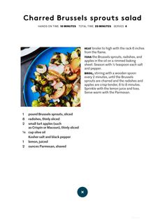 Charred Brussel sprouts salad