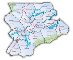 Lakes In East Tennessee Map Note Tennova Healthcare Will Be On - Map of east tn