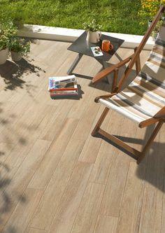 terrasse avec carrelage extérieur imitation bois