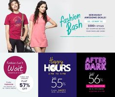 AmericanSwan #FasionBash Sale with awesome deals for men and women starting from 13-15th May 2015. You can find amazing offers like #FashionCan'tWait , #Happyhours , #AfterDark! Hurry up offer valid for limited time.