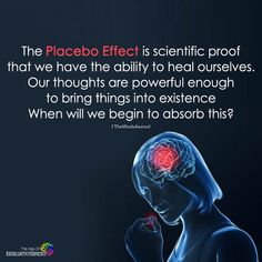 Placebo Effect Proves our thoughts are critical in healing Psychology Fun Facts, Psychology Quotes, Psychology Careers, Personality Psychology, Educational Psychology, Health Psychology, Educational Leadership, Color Psychology, Educational Technology