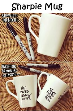Sharpie Mug - Let us know what you write or draw on your mugs in the comments. Enjoy! I will try this again, but use Sharpie meant for ceramics!