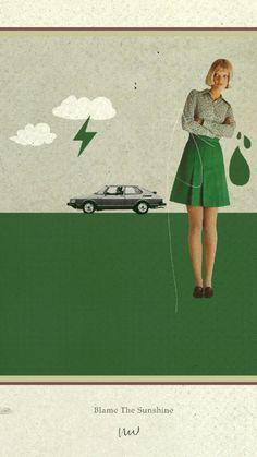 Au Revoir Simone - Collage Art by Julien Ulvoas