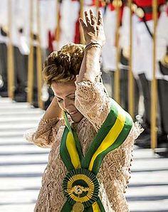 A presidente Dilma Rousseff durante a cerimônia de posse no Palácio do Planalto
