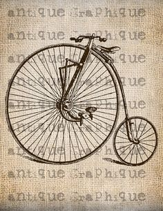 Steampunk Vintage Bicycle Transfer
