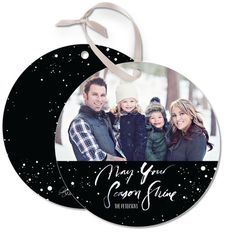 Snowy Enchantment - Ornament Cards feature beautiful black and white detail