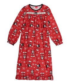 Mickey Mouse Red Granny Nightgown - Girls 9f03a34fc