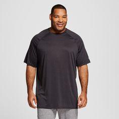 Men's Big & Tall Tech T-Shirt Thundering Gray 4XBT - C9 Champion, Size: 2XB Tall, Onyx Heather