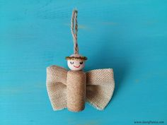 Christmas ornament - cork angel Valentines Day, Crafts For Kids, Angel, Christmas Ornaments, Halloween, Holiday Decor, Valentines Diy, Xmas Ornaments, Valentine's Day
