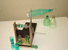 cortador de botella de plástico y un conjunto de cola de impresión.