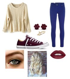 """""""Maroon highlight"""" by lulu-bell-7298 on Polyvore featuring M Missoni, Converse, women's clothing, women, female, woman, misses and juniors"""