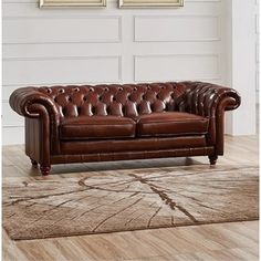 Shop for Luca Home Brown Leather Split Loveseat. Get free shipping at Overstock.com - Your Online Furniture Outlet Store! Get 5% in rewards with Club O! - 19080885