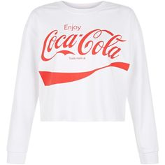 New Look Teens White Coca-Cola Sweater (61 BRL) ❤ liked on Polyvore featuring tops, sweaters, shirts, white, relaxed fit tops, white sweater, white top, shirt tops and relaxed fit shirt