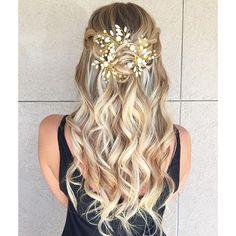 Fairytale hair. Styled by @thomastimes #hair #hairenvy #hairstyles #weddinghair…