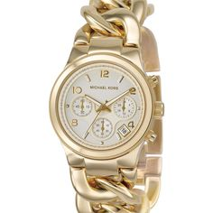 Michael Kors Chain Bracelet Chronograph Watch, 38mm ($250) ❤ liked on Polyvore featuring jewelry, watches, accessories, bracelets, women, stainless steel jewellery, stainless steel wrist watch, stainless steel chains jewelry, twist jewelry and chronograph wrist watch