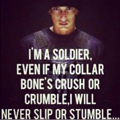 Soldier on!