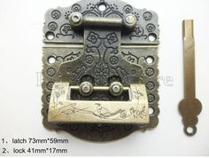 {Description} This goods is 73mm x 59mm Big Size vintage luck cloud 7 holes bronze Jewelry Box Staple Hasp Catch with Lock LC0097. You can set up