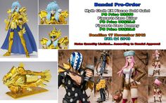 Pre-Order Bandai:  - Myth Cloth EX Pisces Gold Saint  - Fzo Bonney & Killer