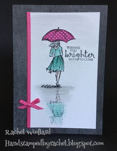 Beautiful You and Watercolour pencils. Urban Underground for background DSP, Stampin' Up!