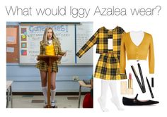 """Iggy Azalea"" by thedk on Polyvore featuring Hue, Topshop, Rochas, Tory Burch, GHD and Bobbi Brown Cosmetics"