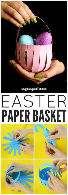DIY Easter Paper Basket Craft! A great spring activity for older kids!