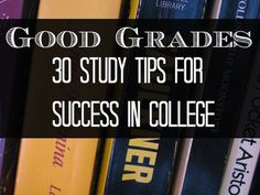 Tips for Getting Good Grades